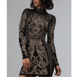 Akira black and gold sequined dress